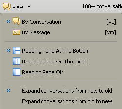 Managing your email message view